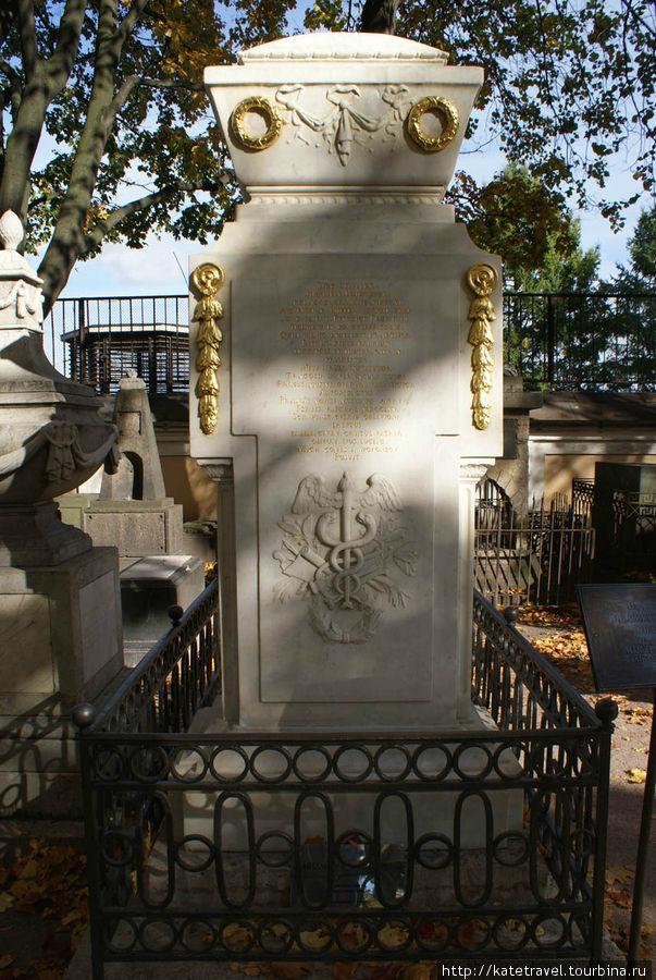 Памятник на могиле М.В. Л
