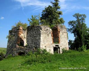 Руины башни 15 века.