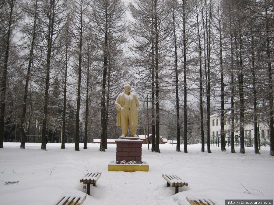 Памятник Ленину в сквере у центральной площади