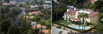 Так выглядят дома в долине. Это один из самых дорогих районов во всей Америке. Миллионы долларов стоит здесь дом с землёй. Здесь живут самые звездатые из голливудских звёзд!