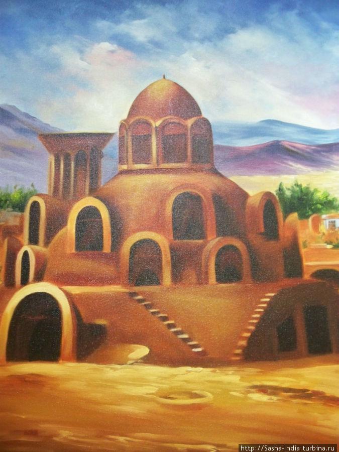 В гостинице много картин с иранскими сюжетами