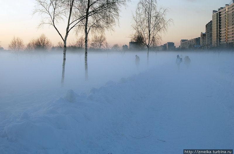Туман от ручья, почти как сюжет из фильма :)