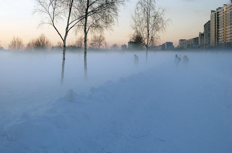 Туман от ручья, почти как