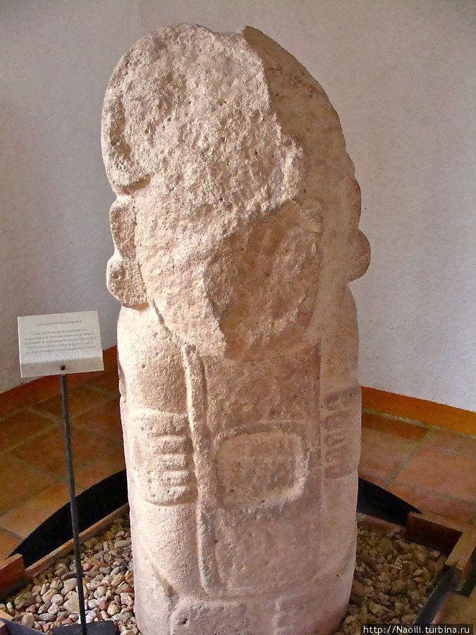 Статуя человека, но черты лица стерты