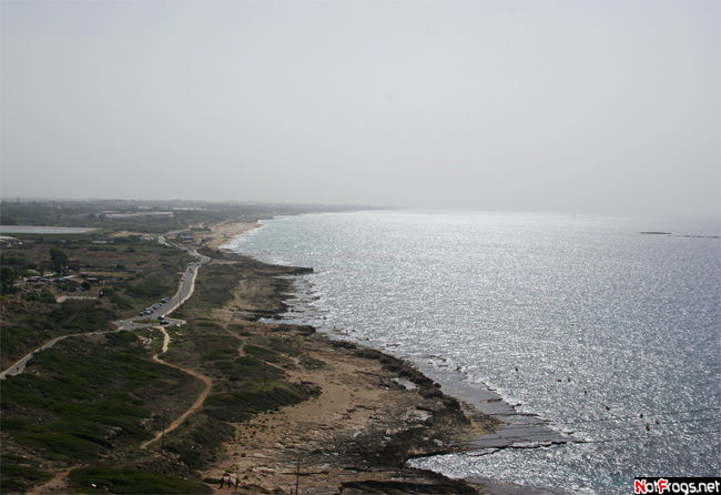 Вид на побережье Израиля.