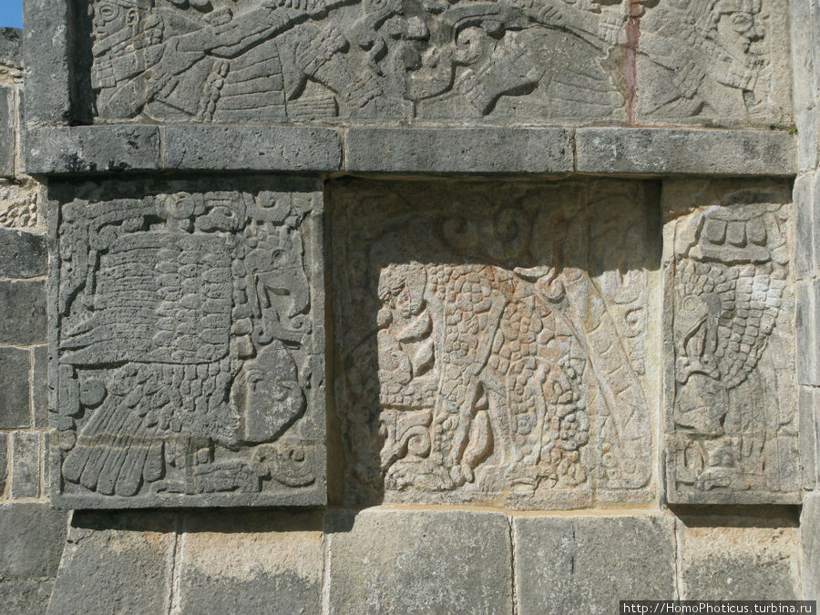Пирамида договора Чичен-Ица город майя, Мексика