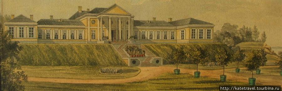 Вот так дом выглядел в 1830 году…