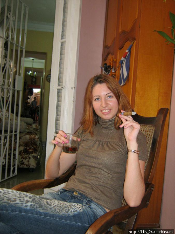 В касе у Веры и Элио, очень гостепреимные хозяева, с порога вручили сигары и ром!