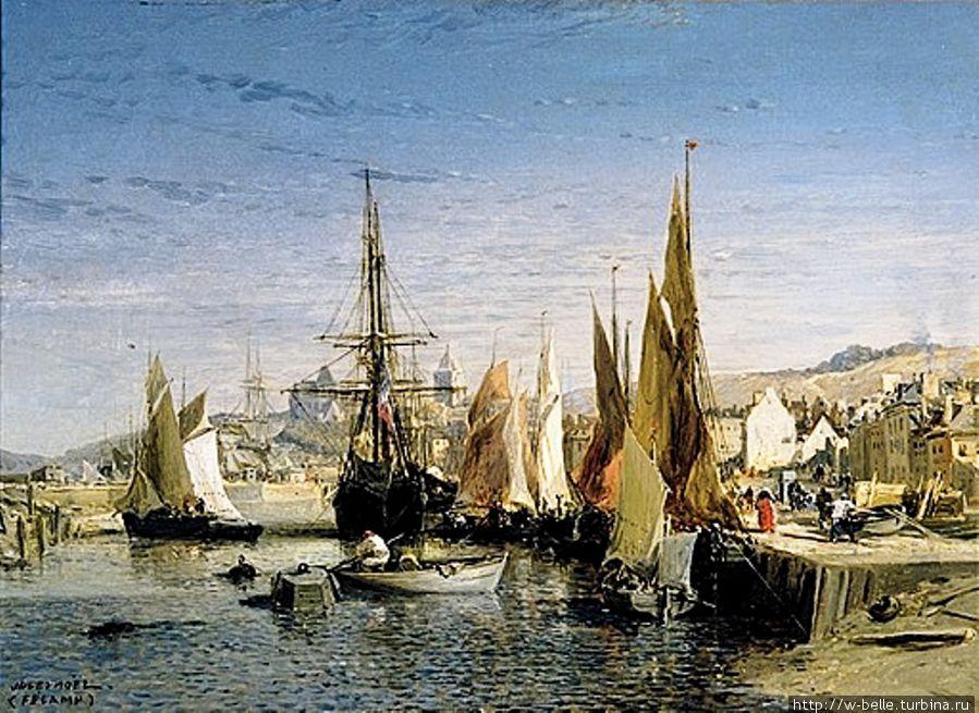 Fécamp, le port (1875), Jules Noël (1810-1881), Musée des Terre-Neuvas.