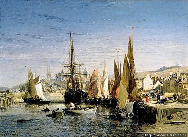 Fécamp, le port (1875), J