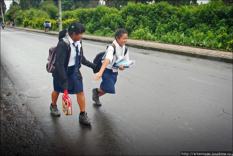 Приходя домой, эти девочки включают комп и садятся за Facebook. Аккаунты в социальных сетях есть у многих детей на Суматре.