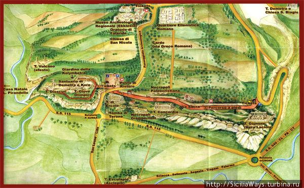 Карта археологического парка