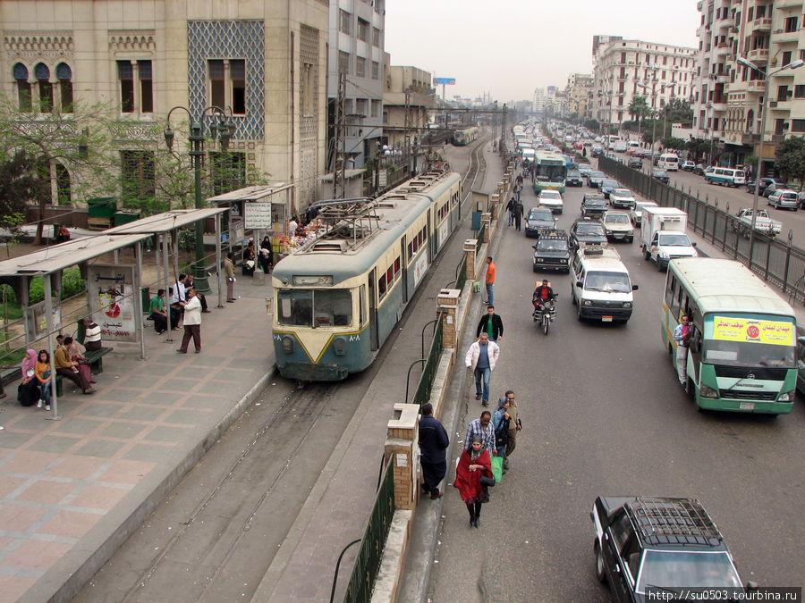Старый трамвай в Каире