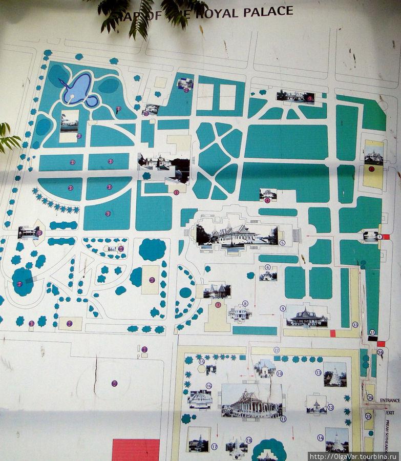 Схема королевской резиденции, занимающей огромную площадь