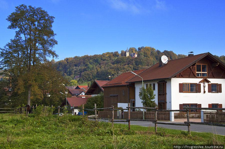 Золотая осень в замке Нойшванштайн Фюссен, Германия
