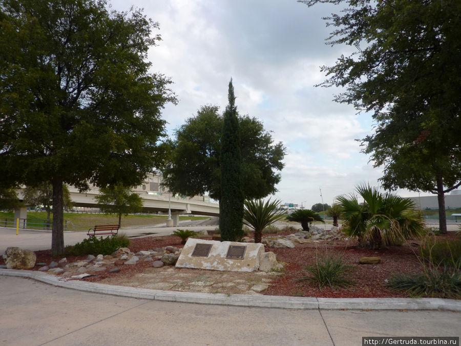 Общий вид мемориального  сада камней