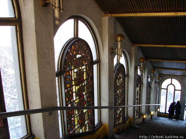 внутренний вид верхней станции