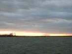Калининградский морской судоходный канал, вид в сторону Балтийского моря