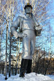 Памятник шахтёру.