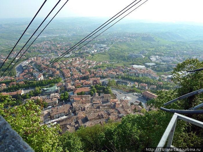 Вид на жилые кварталы Сан- Марино со смотровой площадки