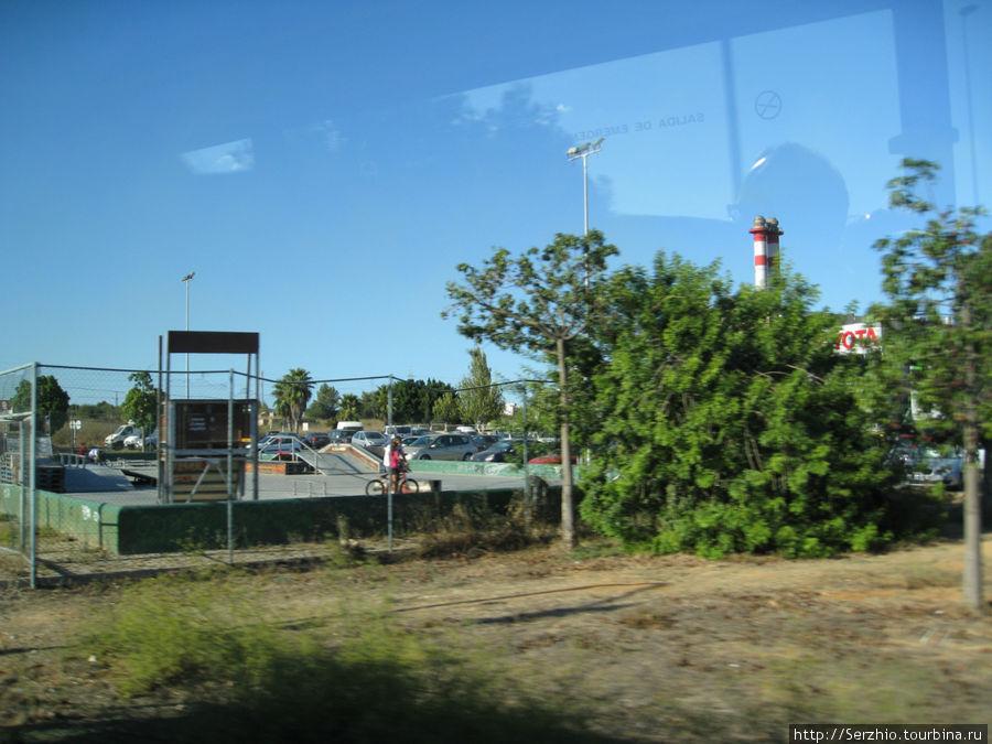 Фото из автобуса по пути из Сан-Антони в центр Ибицы