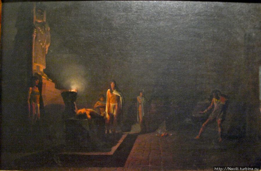 Жертвоприношение принцессы из племени Асолуа, Петронило Монрой (1836-1882)