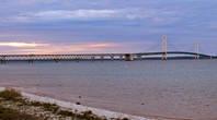 Мост Макинак практически во всю длинну