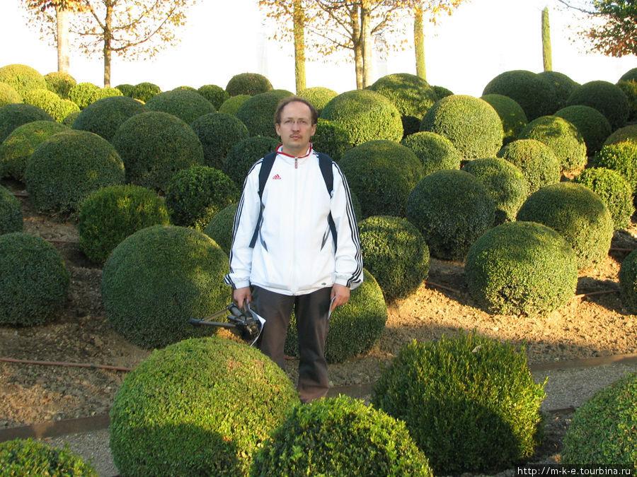 В саду замка Амбуаз