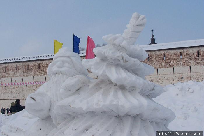 Елочка из снега своими руками фото 199