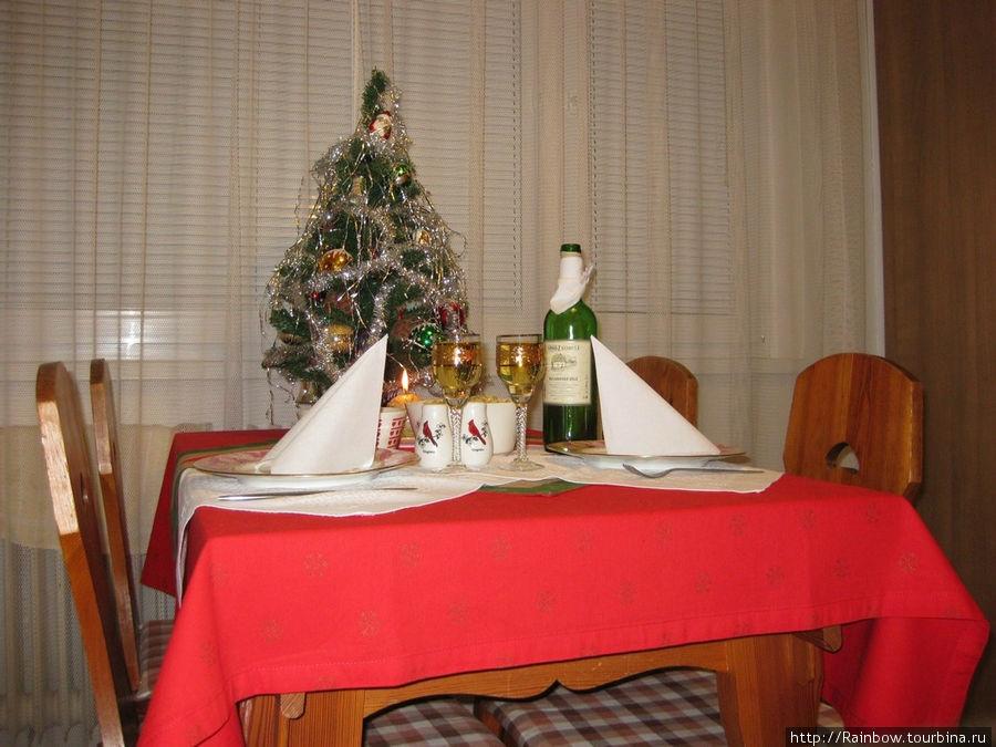 Стол готов, скоро ужин.