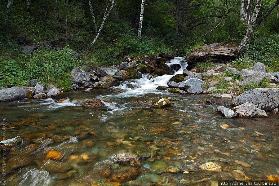 Река Громотуха у одноименного — Громотухинского — перевала