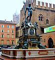 Вот так выглядит фонтан Нептуна в Болонье.  Шедевр эпохи Возрождения работы скульптора Джамболоньи (1563 года).