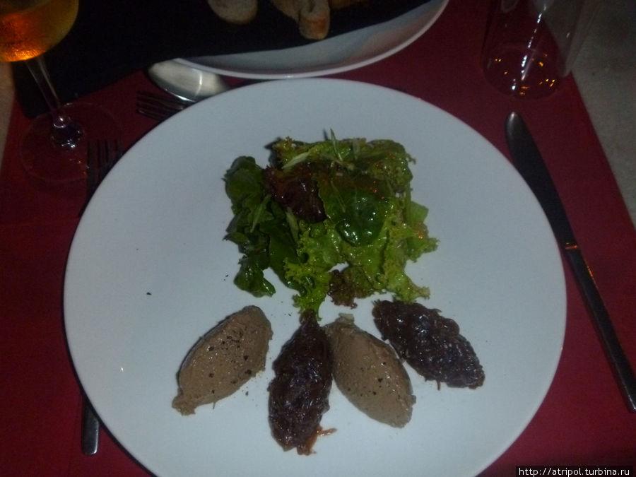 Очередная фуа-гра во фр. ресторане Poisson Rouge