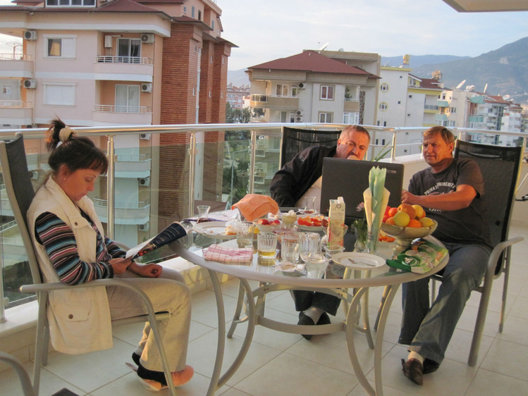 Балкон для чаепития