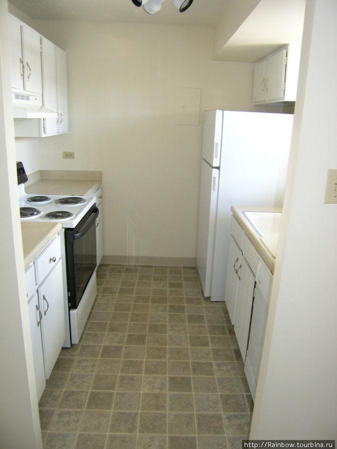 Вот например маленькая кухня   в односпальной (т.е двухкомнатной) квартире.