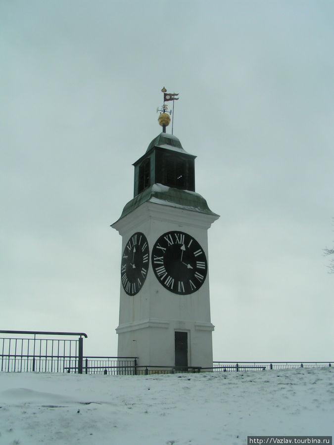 Часовая башня крепости, один из символом Нови-Сада