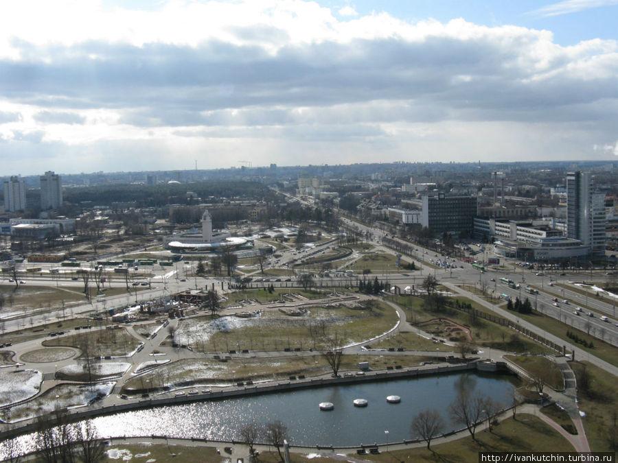 Собственно, Минск, с высоты птичьего полета