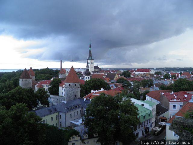 Вид с верхней части города