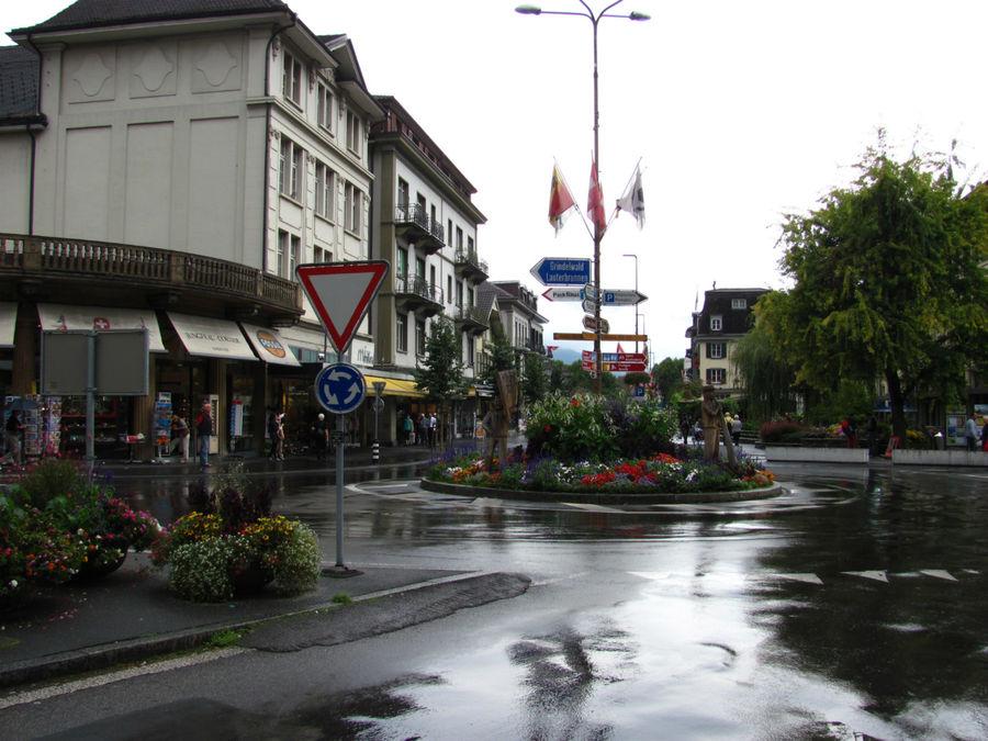 Centralplatz. Тут поворач