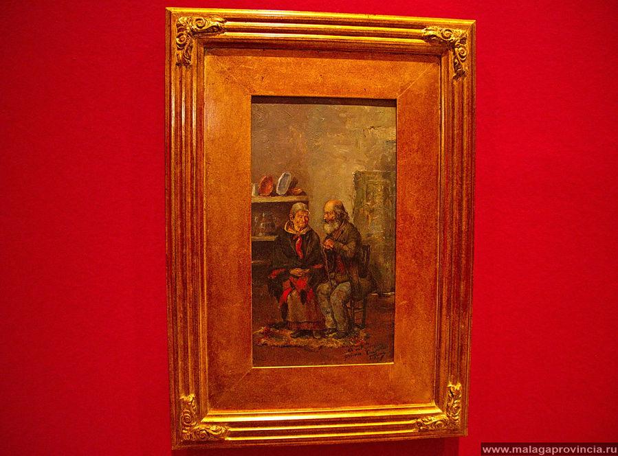 Пожилая парочка, Пабло Пикассо. Картина свидетельствует о том, что рисовать Пикассо умел, когда хотел