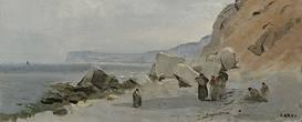 Camille Corot, Меловые скалы Ипорта, 1872