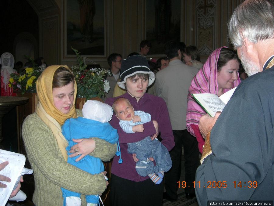 Крещение моего внука Фёдора.