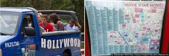 За сотню долларов вас провезут на открытом автобусе по основным местам города, покажут дома звёзд (издалека) и через пару часов вернут на это же место.