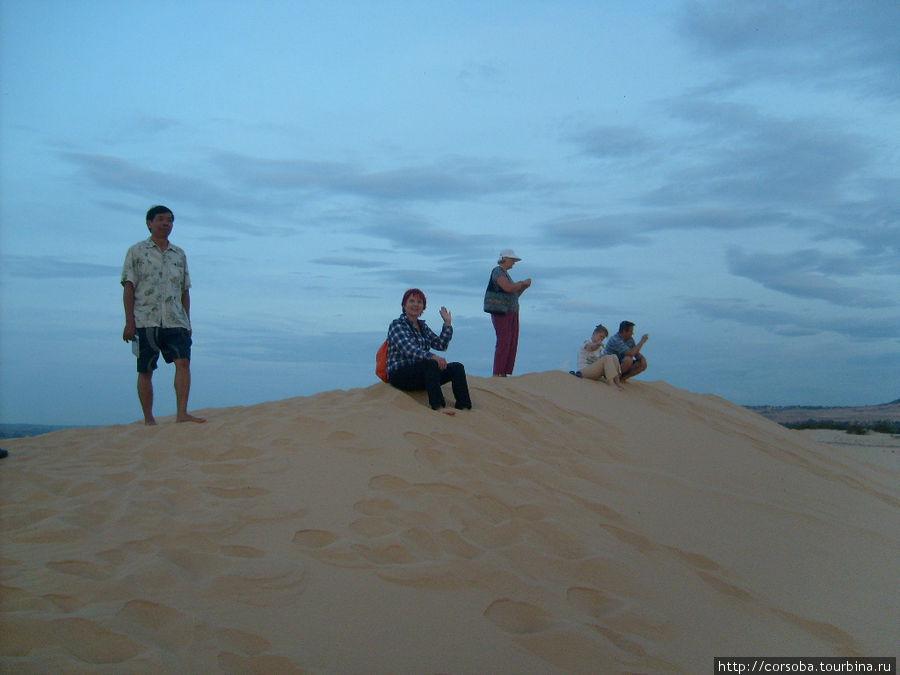 Это рано утром на дюнах. Солнце еще не всходит.