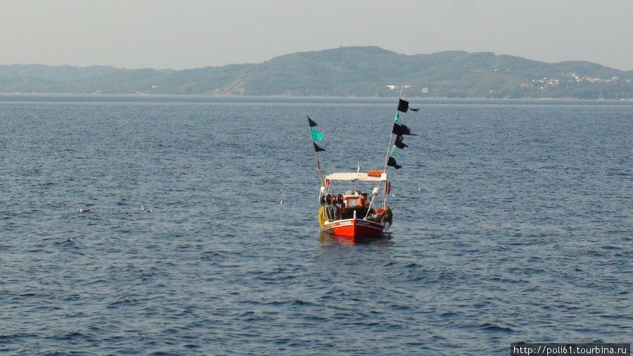 Плывем мимо восточных берегов Корфу
