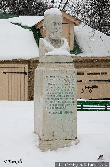 Памятник Павлову на территории усадьбы