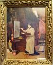 Мария Тенишева в образе художницы на картине Я. Ф. Ционглинского_1896