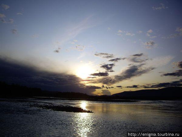 Закат на Катуни.