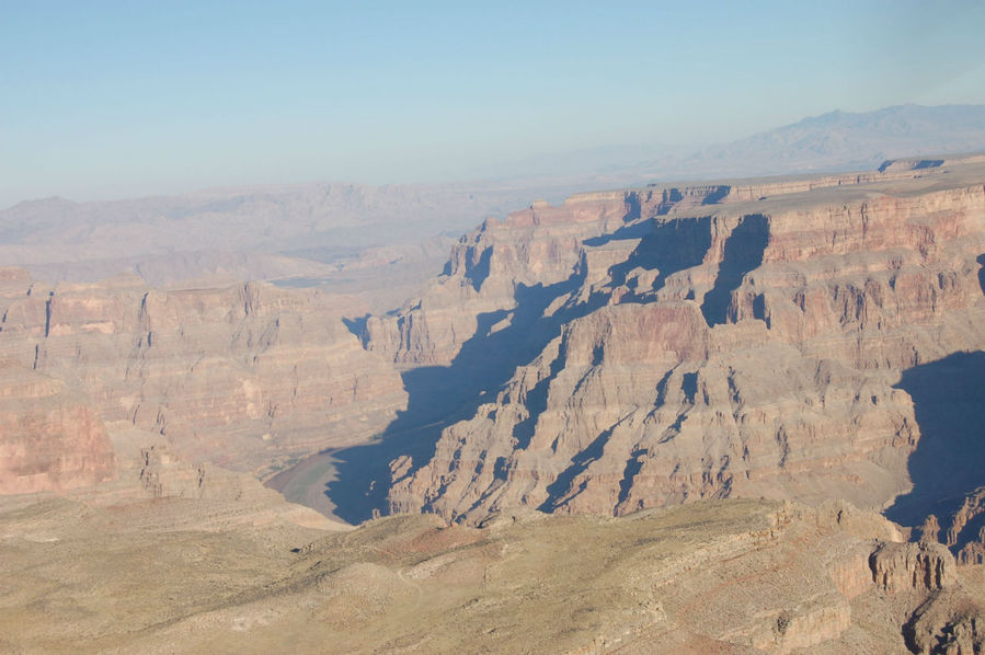 Гранд каньон из окна самолета