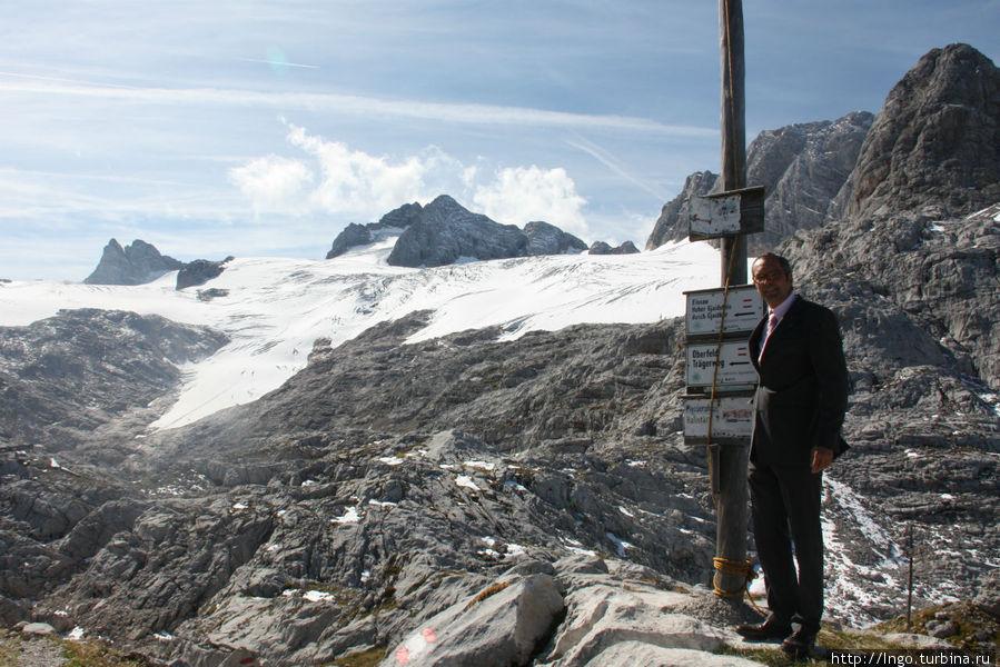 Valentino))) покоряет австрийские горы (я примеряю костюм и ботинки на высоте 3.000м)
